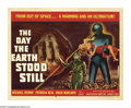 "Movie Posters:Science Fiction, The Day the Earth Stood Still (20th Century Fox, 1951). Half Sheet(22"" X 28""). Robert Wise's classic science fiction epic i..."