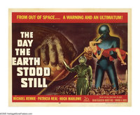 """The Day the Earth Stood Still (20th Century Fox, 1951). Half Sheet (22"""" X 28""""). Robert Wise's classic science..."""