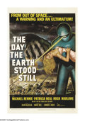 "Movie Posters:Science Fiction, The Day the Earth Stood Still (20th Century Fox, 1951). One Sheet (27"" X 41""). Science fiction forever changed when Klaatu d..."