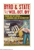 "Movie Posters:Science Fiction, The Day the Earth Stood Still (20th Century Fox, 1951). Window Card(14"" X 22""). This film more than any other movie, legiti..."