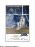 """Movie Posters:Science Fiction, Star Wars (20th Century Fox, 1977). Three Sheet (41"""" X 81""""). GeorgeLucas' mythological sci-fi adventure has passed into mov..."""