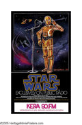 "Movie Posters:Science Fiction, Star Wars (20th Century Fox, 1981). Radio Poster (29"" X 17""). Sincethe film became such a phenomenon, one of the fun aspect..."