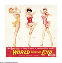 "World Without End (Allied Artists, 1956). Six Sheet (81"" X 81""). Style B. Alberto Vargas, Esquire and Playboy..."