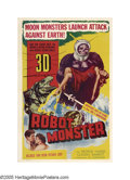 "Movie Posters:Science Fiction, Robot Monster (Astor Pictures, 1953). One Sheet (27"" X 41""). If youcould stretch a very limited budget to include every sch..."