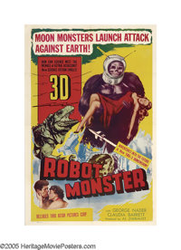 """Robot Monster (Astor Pictures, 1953). One Sheet (27"""" X 41""""). If you could stretch a very limited budget to inc..."""
