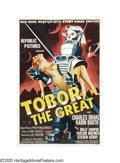 "Movie Posters:Science Fiction, Tobor the Great (Republic, 1954). One Sheet (27"" X 41""). Thisposter is one of the three great ""robot carrying a woman"" post..."