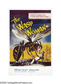 "Movie Posters:Science Fiction, The Wasp Woman (Film Group, Inc., 1959). One Sheet (27"" X 41""). The1950s were a great era for giant insects and insect/huma..."
