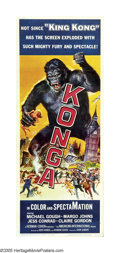 """Movie Posters:Science Fiction, Konga (American International, 1961). Insert (14"""" X 36""""). TimBurton probably liked this tale of a monkey gone mad, since he..."""