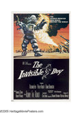 """Movie Posters:Science Fiction, The Invisible Boy (MGM, 1957). One Sheet (27"""" X 41""""). Although sci-fi movies specialized in aliens from other planets, no ot..."""