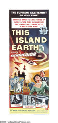 "Movie Posters:Science Fiction, This Island Earth (Universal, 1955). Insert (14"" X 36""). Aliens from the planet Metaluna recruit engineers and scientists fr..."