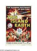 "Movie Posters:Science Fiction, This Island Earth (Universal, 1955). One Sheet (27"" X 41""). Aliensfrom the planet Metaluna recruit engineers and scientists..."