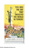 "Movie Posters:Science Fiction, The Deadly Mantis (Universal International, 1957). Three Sheet (41""X 81""). ""In all the kingdom of the living, there is no m..."