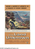 """Movie Posters:Science Fiction, The Land Unknown (Universal, 1957). One Sheet Mailer (27"""" X 41"""").On an Antarctic expedition, three men and a woman fly a he..."""