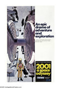 "Movie Posters:Science Fiction, 2001: A Space Odyssey (MGM, 1968). One Sheet (27"" X 41"") Style C.Isaac Asimov revealed that director Stanley Kubrick sought..."