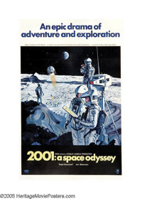 "2001: A Space Odyssey (MGM, 1968). One Sheet (27"" X 41"") Style B. This classic film which takes us from the da..."