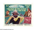 "Movie Posters:Science Fiction, Forbidden Planet (Loews-MGM, 1956). Half Sheet (22"" X 28"") Style A.Commander John J. Adams (Leslie Nielsen) arrives on a pl..."
