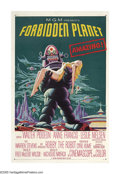 "Movie Posters:Science Fiction, Forbidden Planet (Loews - MGM, 1956). One Sheet (27"" X 41""). Well, here it is. Perhaps the quintessential image of classic s..."