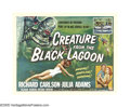 "Movie Posters:Horror, Creature From the Black Lagoon (Universal International, 1954).Half Sheet (22"" X 28"") Style A. The last of the classic Univ..."