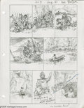 Original Comic Art:Miscellaneous, Hal Foster - Pencil Breakdowns and Script for Prince Valiant Original Art (King Features Syndicate, 1977). This lot provides... (2 items)