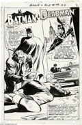 Original Comic Art:Splash Pages, Neal Adams - The Brave and the Bold #79 Batman and Deadman SplashPage 2 Original Art (DC, 1968). In the Silver Age, Neal Ad...