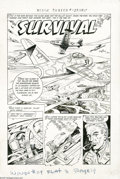 Original Comic Art:Splash Pages, A. Albert - Wings Comics#119, Splash Page 1 Original Art (FictionHouse, 1953). An American airman is shot down over the Yel...
