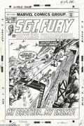 Original Comic Art:Covers, Dick Ayers and John Tartaglione - Sgt. Fury and His HowlingCommandos #105 Cover Original Art (Marvel, 1972). How does a man...(2 items)