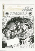 Original Comic Art:Covers, Olive Bailey - Land of the Lost Comics #6 Cover Original Art (EC, 1947). An eerie witch's caldron bubbles up a ghostly visag...