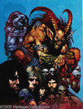Original Comic Art:Covers, Simon Bisley - Tundra Cover Original Art (1991) Their SatanicMajesty seems to have claimed the souls of four young lads to ...