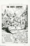 "Original Comic Art:Complete Story, Alex Blum - Classics Illustrated #102, Complete 44-page Story, ""The White Company"" Original Art (Gilberton, 1952). Alex Blum..."