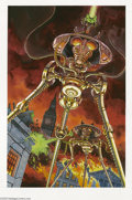Original Comic Art:Sketches, Bruce Bond - War of the Worlds Illustration Original Art (undated). This searing vision of a pair of three-legged Martian wa...
