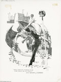 """Original Comic Art:Sketches, Harry Borgman - """"Out of Time's Abyss"""" Illustration Original Art (undated). From a fanzine comes this superb illustration fro..."""