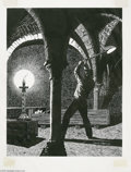 Original Comic Art:Sketches, Harry Borgman - Dracula Illustration Original Art (1970). Deep in the catacombs of the vampire's lair, a man journeys into t...