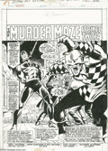 Original Comic Art:Splash Pages, John Buscema and Jim Mooney - Daredevil #137 Splash Page 1 OriginalArt (Marvel, 1976). The Jester throws a necktie party fo...