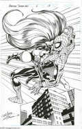 Original Comic Art:Splash Pages, John Byrne and Scott Hanna - The Amazing Spider-Man #6, Splash Page13 Original Art (Marvel, 1999). It's Spider vs. Spider, ...
