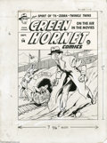 Original Comic Art:Covers, Arturo Cazeneuve - Green Hornet Comics #14 Cover Original Art(Harvey, 1943). Gas-gun in hand, the Green Hornet surveys a st...