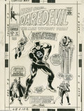 Original Comic Art:Covers, Gene Colan and Frank Giacoia - Daredevil #27 Cover Original Art(Marvel, 1967). Gene Colan's career on Daredevil and T...