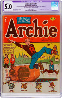 Archie Comics #1 (Archie, 1942) CGC Apparent VG/FN 5.0 Slight (B-1) Off-white to white pages