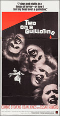 "Movie Posters:Horror, Two on a Guillotine (Warner Brothers, 1965). Folded, Fine/VeryFine. Three Sheet (41"" X 78.5""). Horror.. ..."