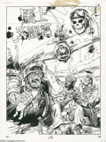 Original Comic Art:Covers, George Evans - National Lampoon Presents the Very Large Book ofComical Funnies, World War II War Comic Parody Cover Original ...