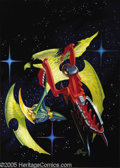 """Original Comic Art:Covers, Kelly Freas - Analog Cover Original Art (1991). Acrylic on board with an 10"""" x 14"""" image area. In Excellent condition and si..."""