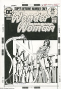 Original Comic Art:Covers, Dick Giordano - Wonder Woman #219 Cover Original Art (DC, 1975). She's made herself helpless! How will Wonder Woman get out ...