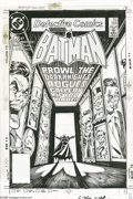 Original Comic Art:Covers, Dick Giordano - Detective Comics #566 Cover Original Art (DC,1986). Join the Dark Knight in his rogues gallery... if you da...