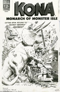 Original Comic Art:Covers, Sam Glanzman - Kona #17 Cover Original Art (Dell, 1966). Dell published 21 issues of Kona, Monarch of Monster Isle from ...