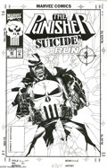 Original Comic Art:Covers, Michael Golden - The Punisher #86 Cover Original Art (Marvel,1994). Like an angel of death, The Punisher deals justice from...