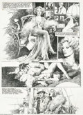 Original Comic Art:Panel Pages, Jose Gonzalez - European Erotic Comic Page Original Art (undated).Drawing from Golden Age Hollywood references, this striki...