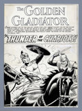 Original Comic Art:Splash Pages, Russ Heath - The Brave and the Bold #1 Golden Gladiator Splash PageOriginal Art (DC, 1955). Using only his shield, the Gold...