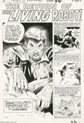 "Original Comic Art:Complete Story, Don Heck - Tales of Suspense #9, Complete 5-page story ""The Returnof the Living Robot"" Original Art (Marvel, 1960). Don Hec..."