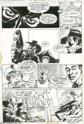 "Original Comic Art:Panel Pages, Michael Kaluta - The Shadow #2, page 15 Original Art (DC, 1974).The Shadow reveals the villain in ""The Freak Show Murders,""..."