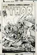 Original Comic Art:Covers, Gil Kane and John Romita Sr. - Thor #237 Cover Original Art (Marvel, 1975). Ulik the Troll pile-drives the Thunder God into ...