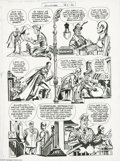 Original Comic Art:Panel Pages, Jack Kirby and Joe Simon - Stuntman #2, page 13 Original Art(Harvey, 1946). Stuntman searches for the Duke; Dan Dandy, and ...